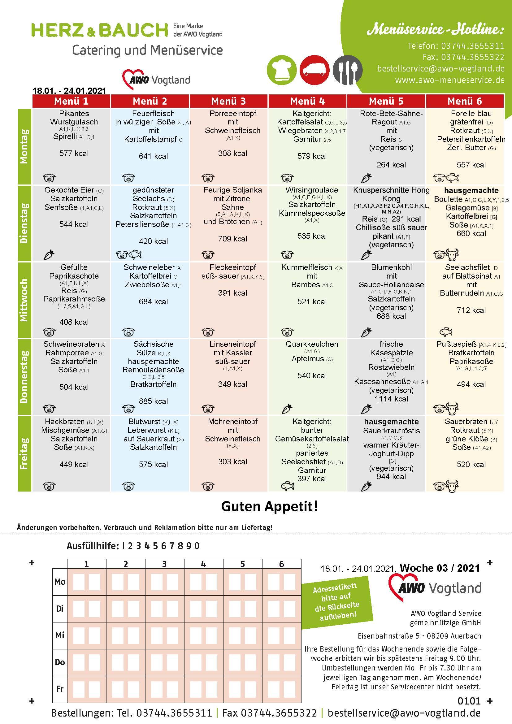 Spieseplan KW 03 2021